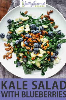 kale salad with text overlay