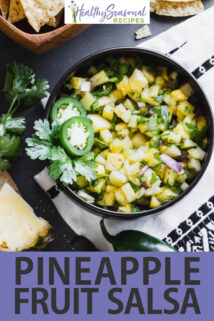 Pineapple Salsa text overlay
