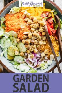 Garden Salad text overlay