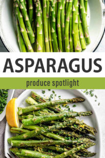 asparagus produce spotlight text collage