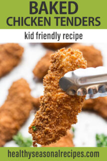 Baked Chicken Tenders text overlay