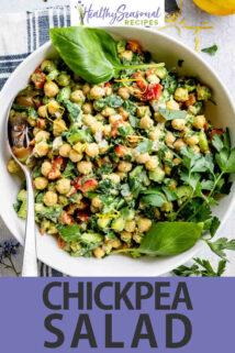 Chickpea Salad text overlay