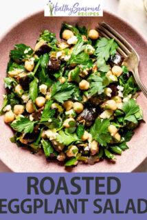 Roasted Eggplant Salad text overlay