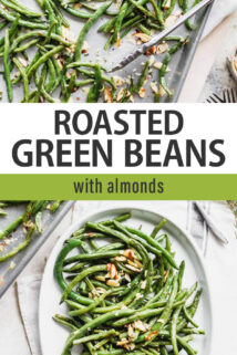 Roasted Green Beans with Almonds text overlay