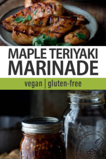 Maple Teriyaki Marinade text overlay