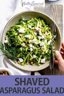 Shaved Asparagus Salad text overlay