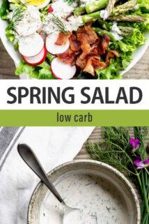 Spring Salad text overlay