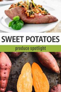 produce spotlight sweet potatoes