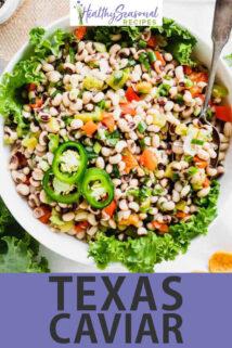 texas caviar text overlay