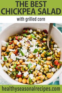 Corn Chickpea Salad text overlay