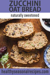 zucchini oat bread text overlay