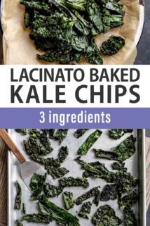 kale chips collage text overlay