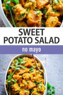 Sweet Potato Salad text overlay
