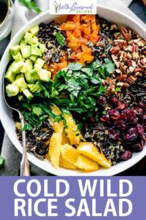 wild rice salad text overlay