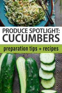 cucumbers text overlay collage