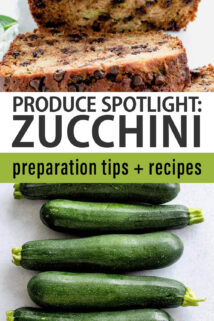 zucchini text overlay collage