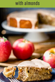 apple cake with text overlay