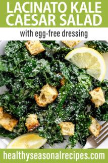 Lacinato Kale Caesar Salad text overlay