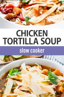 chicken tortilla soup text overlay