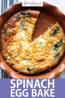 spinach egg bake text overlay