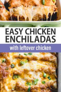 chicken enchiladas text overlay