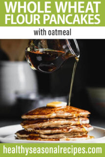 oatmeal pancakes text overlay
