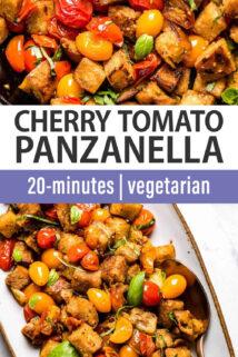 Cherry Tomato Panzanella text overlay
