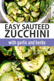 sauteed zucchini text overlay