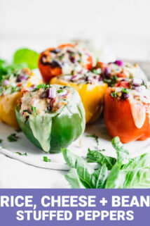 stuffed peppers with text overlay
