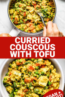 couscous collage with text overlay
