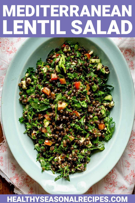 Mediterranean Black  Lentil Salad