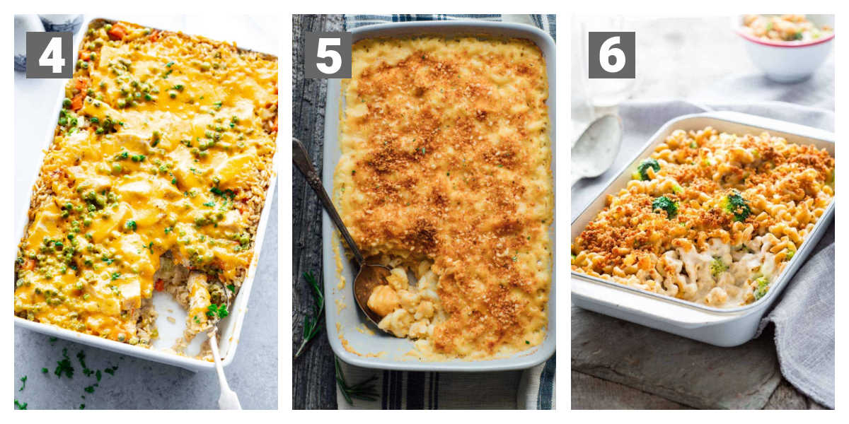 chicken and rice casserole, baked mac and cheese recipes