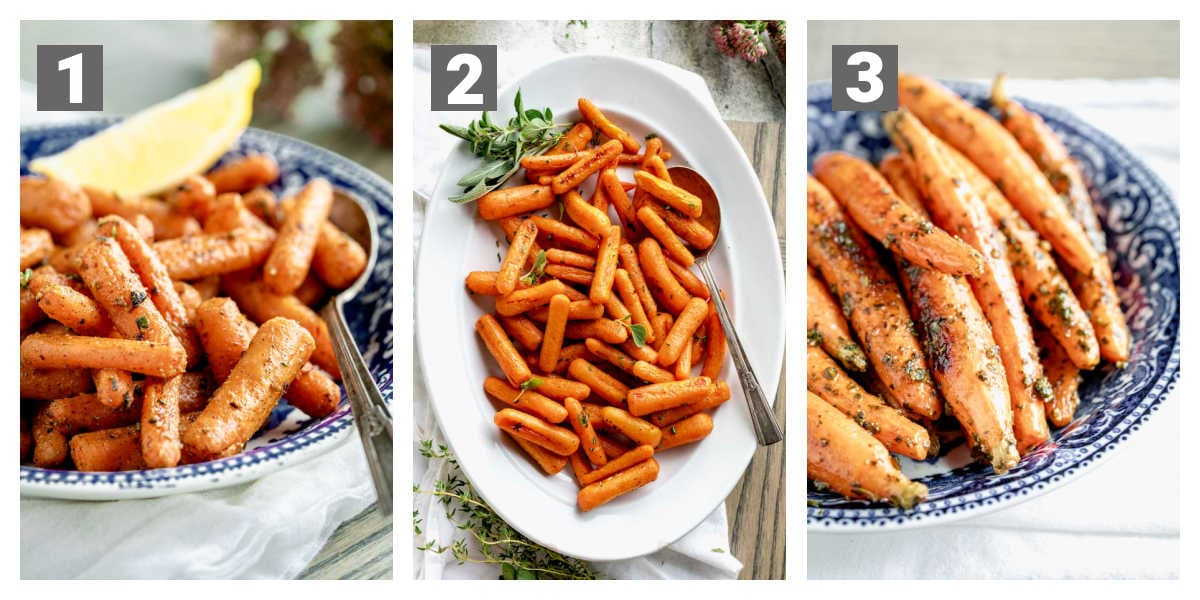 variations of the flavorings on the carrots