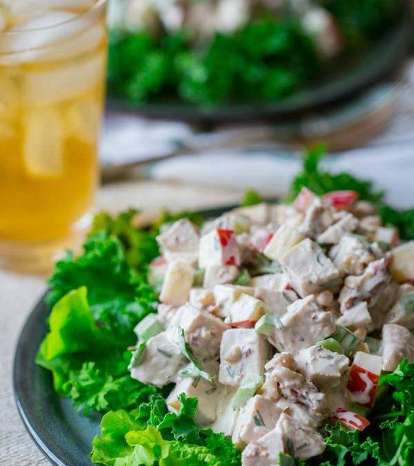 healthy waldorf chicken salad