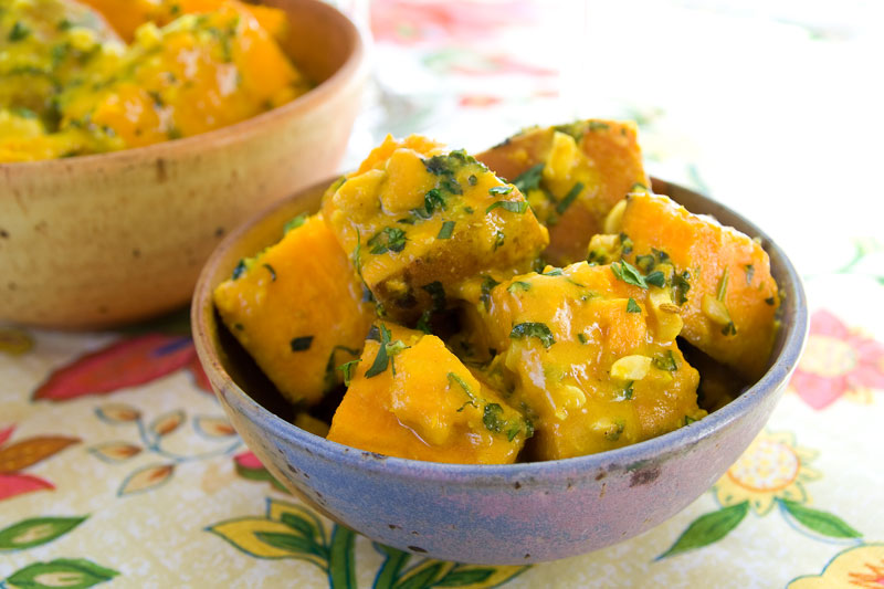 saucy sweet potatoes with coconut, curry and mint - Healthy Seasonal ...