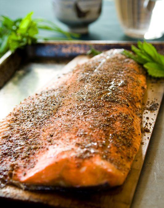 garam masala cedar plank salmon