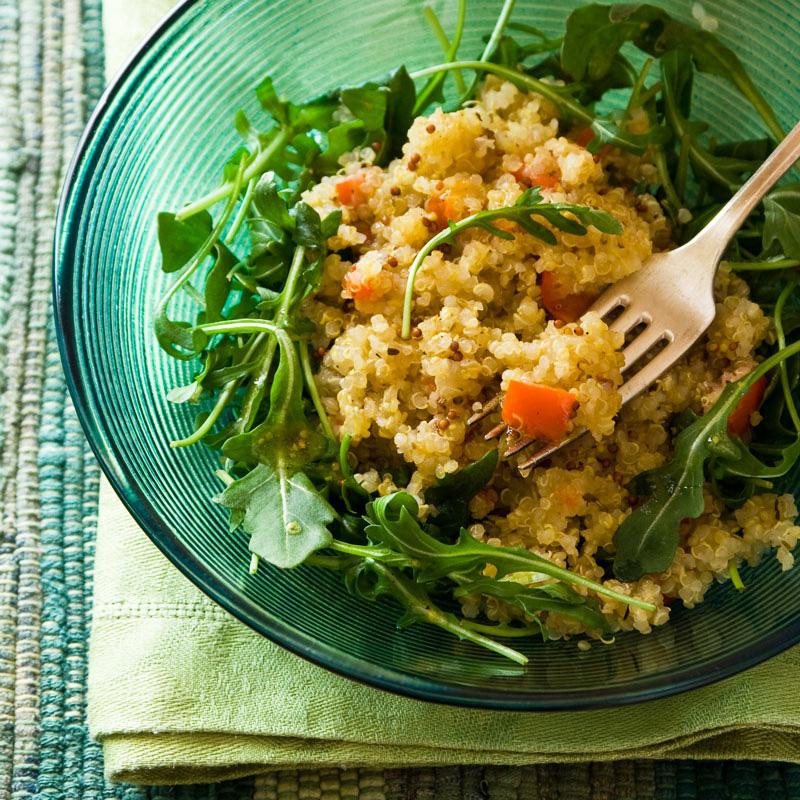 ... and warm quinoa and arugula salad recipe - Healthy Seasonal Recipes