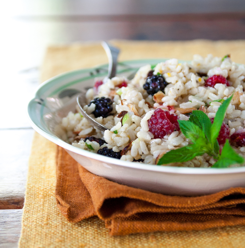 what seasonal means to me and brown rice salad with berries recipe