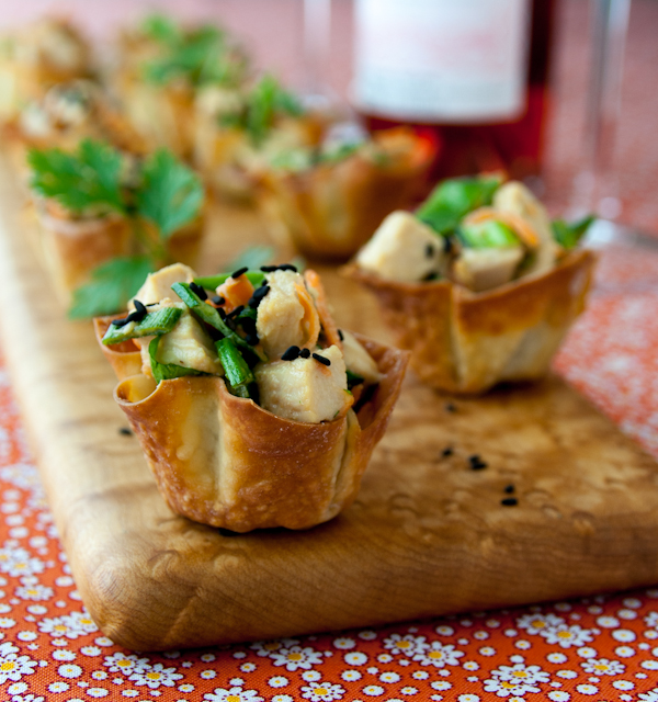 Chicken wonton cups recipe