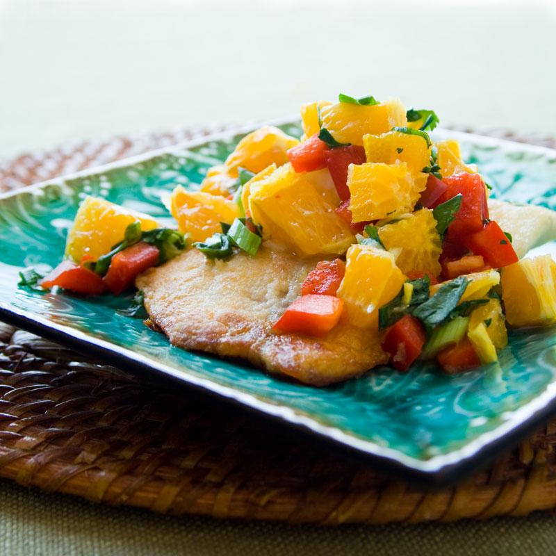 tilapia with tangerine salsa