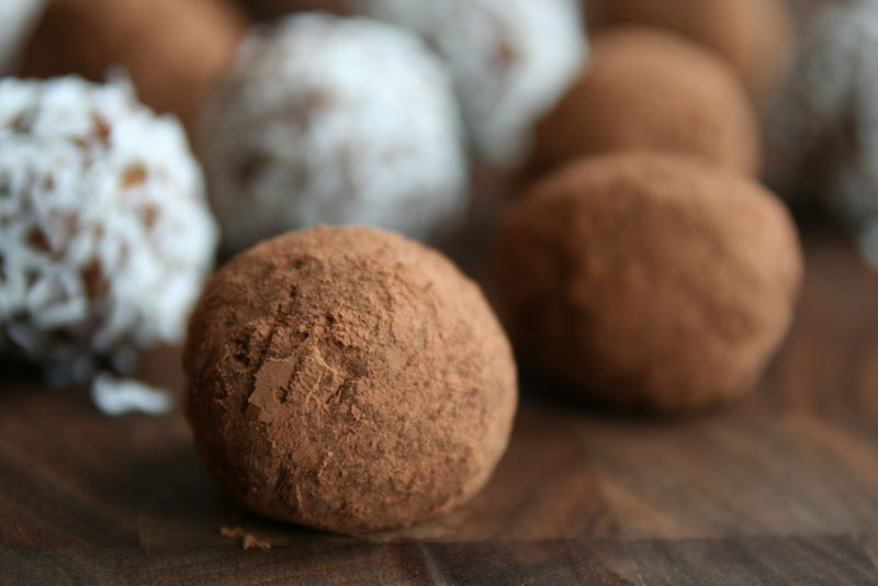 Clementine Rum Balls | No Bake Christmas Cookies | Healthy Seasonal Recipes by Katie Webster