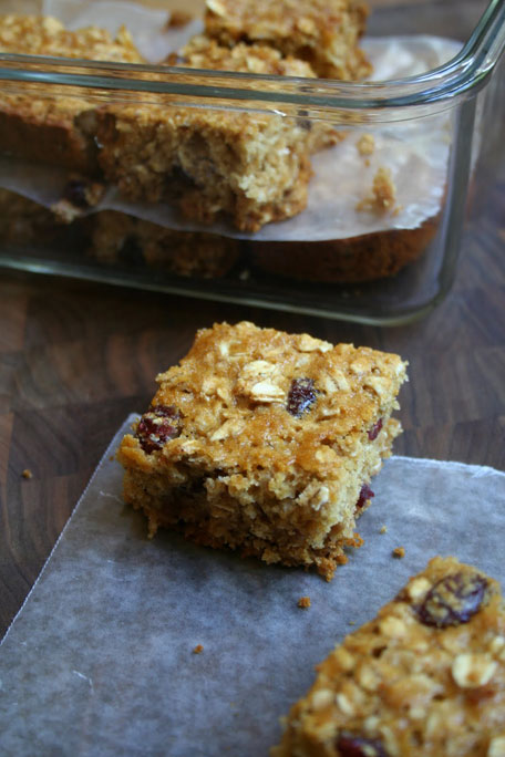 Whole-grain Cranberry Oat Bars