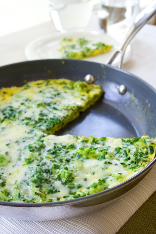 zucchini frittata with chives - Healthy Seasonal Recipes