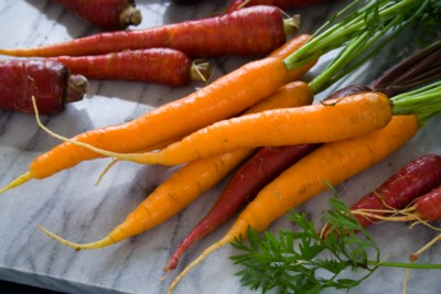 fresh carrots from our CSA