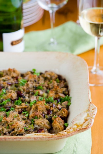 pecan cranberry stuffing with sausage
