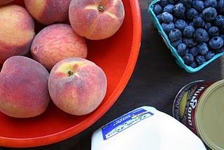 Peach Blueberry Trifle