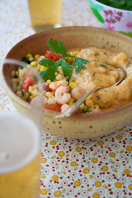 shrimp and corn with cheese grits