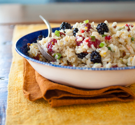rice-salad-with-raspberries-and blackberries
