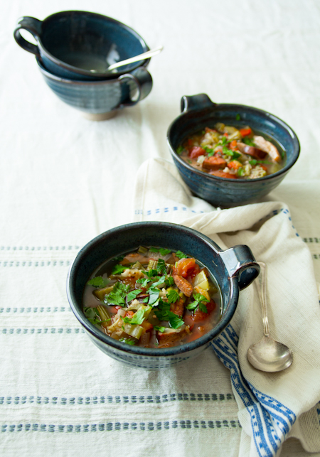 bowls of slow cooker gumbo