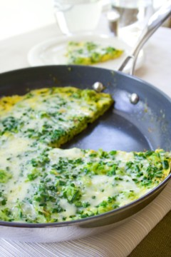 zucchini frittata with chives